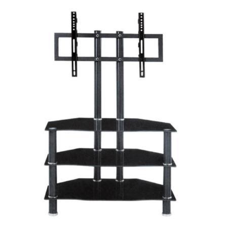 Tempo Kondela TV stolek, kov/sklo, černá, ROSS