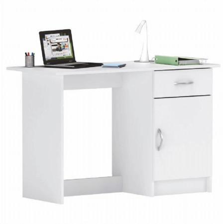 Tempo Kondela PC stolek, bílá, SIRISS