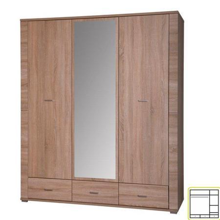 Tempo Kondela Skříň se zrcadlem typ 2, dub sonoma, GRAND
