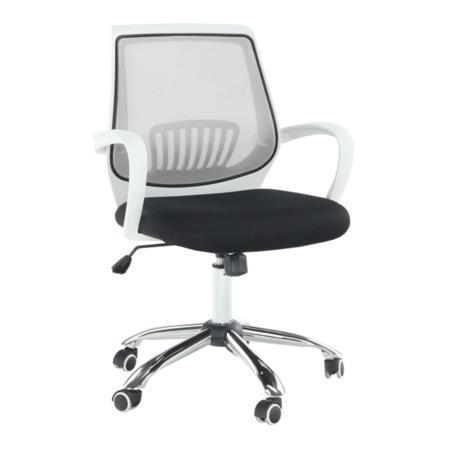 Tempo Kondela Kancelářské křeslo s černým sedákem, šedá opěrka, LANCELOT