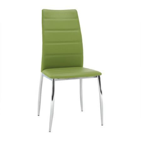 Tempo Kondela Jídelní židle, ekokůže zelená / chrom, DELA