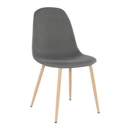 Tempo Kondela Židle, tmavě šedá látka / buk, LEGA