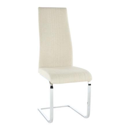 Tempo Kondela Jídelní židle, látka béžová / chrom, AMINA