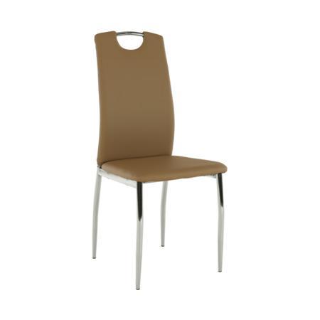 Tempo Kondela Jídelní židle, ekokůže béžová / chrom, ERVINA