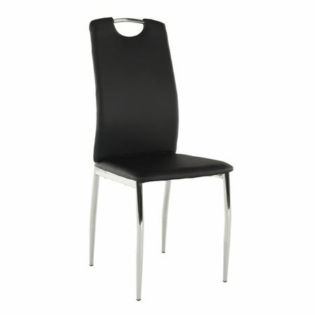Tempo Kondela Jídelní židle, ekokůže černá / chrom, ERVINA