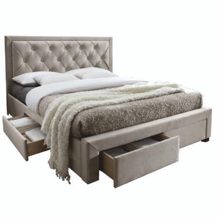 Tempo Kondela Manželská postel, šedohnědá, 180x200 cm, OREA