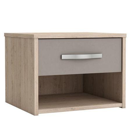 Tempo Kondela Noční stolek se zásuvkou, dub arizona / šedá, GRAPHIC