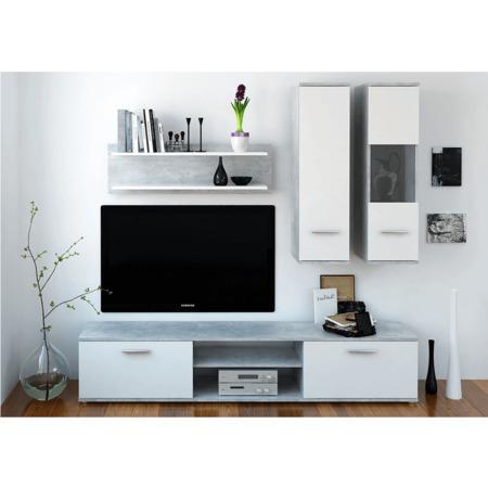 Tempo Kondela Obývací stěna, beton / bílá, WAW