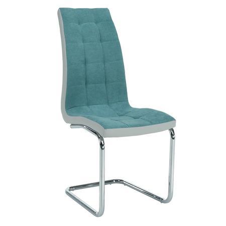 Tempo Kondela Jídelní židle, mentolová /šedá/ chrom, SALOMA NEW