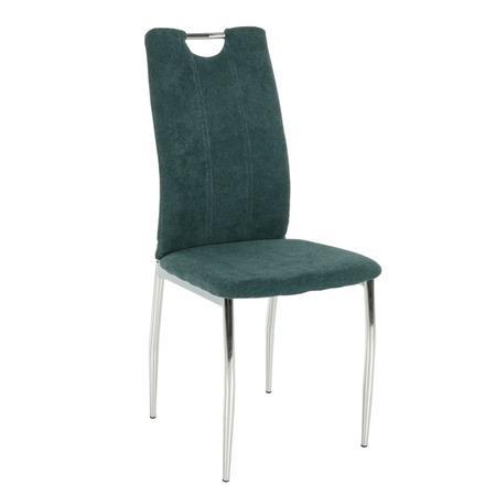 Tempo Kondela Jídelní židle, azurová látka / chrom, OLIVA NEW