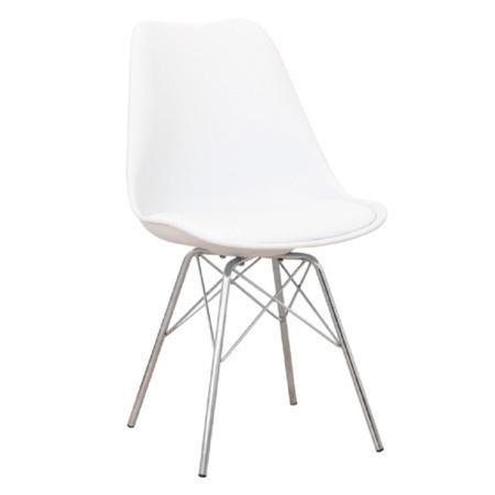 Tempo Kondela Židle, bílá / chrom, TAMORA