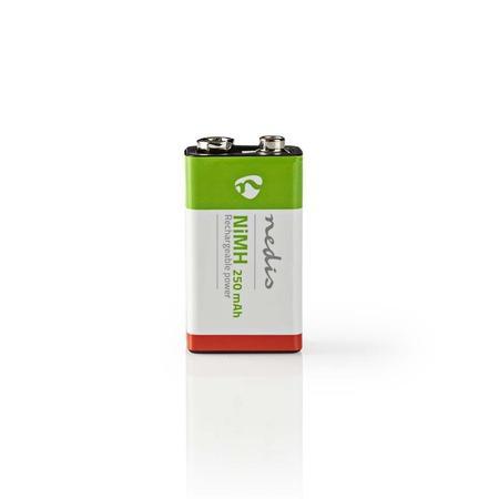 Nedis BANM9HF91B - Dobíjecí Ni-MH Baterie E-Block | 8,4 V | 250 mAh | Blistr