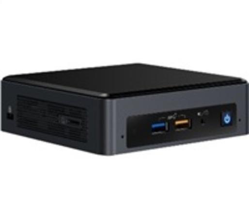 INTEL NUC 8i5BEH, i5, mini PC (výška 51mm, M.2+SATA 2.5in, Core i5-8259U) (max 3.8GHz, GLAN, HDMI+mDP, USB3.1, wifi ac 9560, Bluetooth 5.0) (model i5BEH2 s EU napájením), BOXNUC8i5BEH2