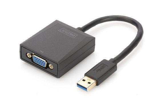 Digitus USB 3.0 to VGA Adapter Input USB, Output VGA Resolution up to 1080p, DA-70840