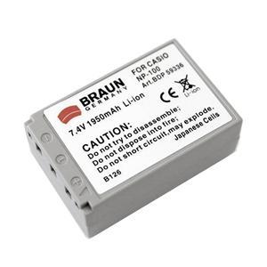 Braun akumulátor CASIO NP-100, 1950mAh