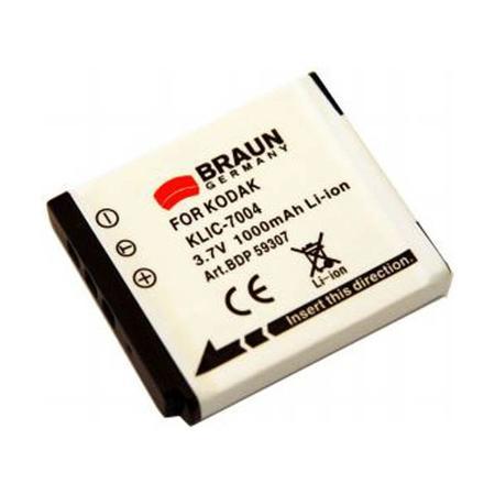 Braun akumulátor FUJI NP-50, PENTAX D-Li68, Kodak Klic 7004, 650mAh