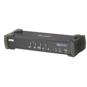 Aten 4 port DVI KVMP USB, 2port USB HUB, audio, CS-1764A