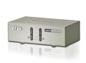 Aten 2-port KVM USB, audio 2.1, včetně kabelů, CS-72U