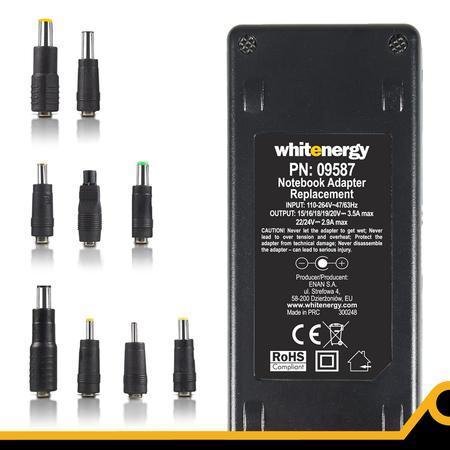 Whitenergy 15-24V, 70W AC univerzální napájecí zdroj pro notebooky, USB, 09587