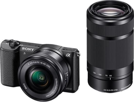 SONY ILCE-5100 Fotoaparát Alfa 5100 s bajonetem E + SEL-P1650 a SEL-55210 - Black