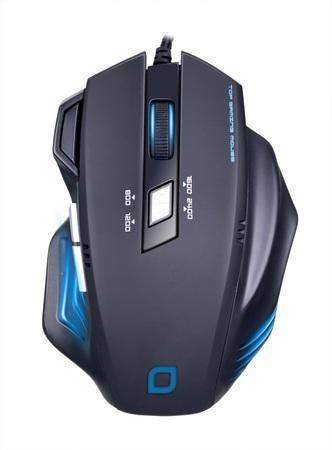EVOLVEO MG648 herní myš s rozlišením 2400DPI, USB, 6 programovatelných tlač., černá
