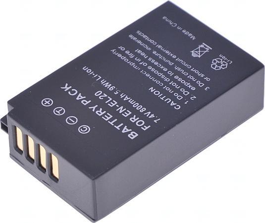 Baterie T6 power Nikon EN-EL20, EN-EL20a, 800mAh, černá