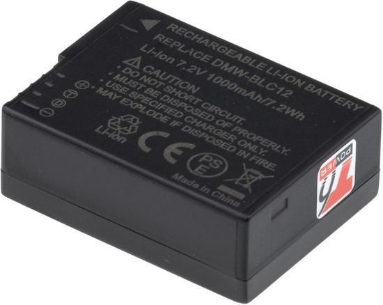 Baterie T6 power Panasonic DMW-BLC12E, BP-DC12, 850mAh, 6,3Wh, černá