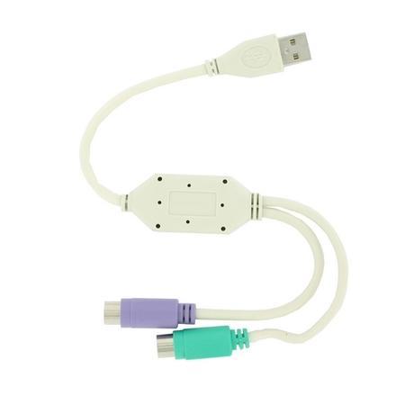 4World Adaptér z USB na 2 porty PS/2, 01421