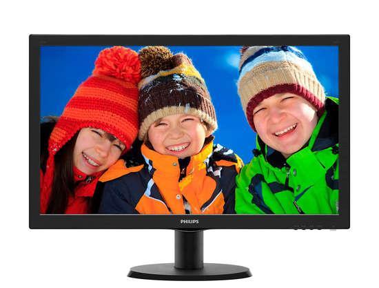 Philips LCD 243V5LHSB/00, 23.6`` LED 5ms,D-Sub,DVI,HDMI,1920x1080, č, 243V5LHSB/00