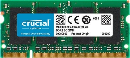 Crucial SODIMM DDR2 2GB 667MHz CL5 CT25664AC667, CT25664AC667