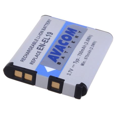 Baterie Avacom Nikon EN-EL19 Li-ion 3.7V 620mAh 2.3Wh - neoriginální