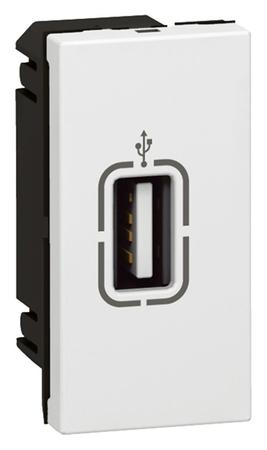 MOSAIC zásuvka USB 1M bílá, 078761