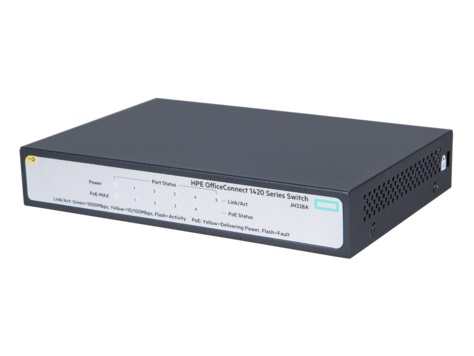 HPE 1420 5G PoE+ (32W) Switch, JH328A