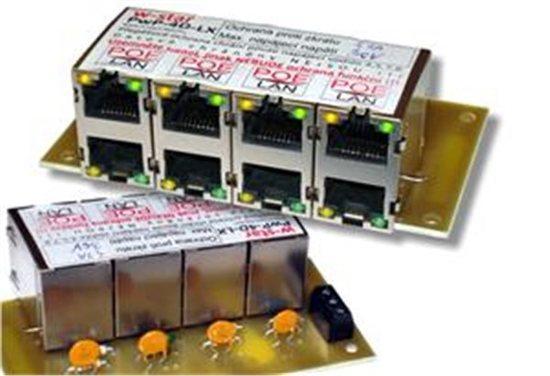 4portový napáj. panel s ochranou proti přepětí 60V, PwP-4-30-EX