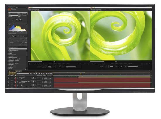 """Philips LCD 328P6VJEB 31,5""""IPS W-LED 4K/3840x2160/50mil:1/4ms/300cd/D-sub/DVI-D/MHL/DP/USB/pivot/repro"""