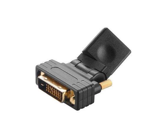 AKASA - úhlová redukce DVI-D na HDMI