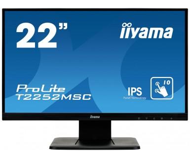 Monitor Iiyama T2252MSC-B1 22inch VGA + DVI-D + USB, T2252MSC-B1