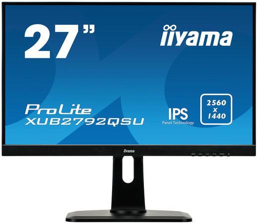 "Monitor Iiyama XUB2792QSU-B1, 27"", panel IPS, 2560x1440, DVI/HDMI/DP, hub USB, XUB2792QSU-B1"