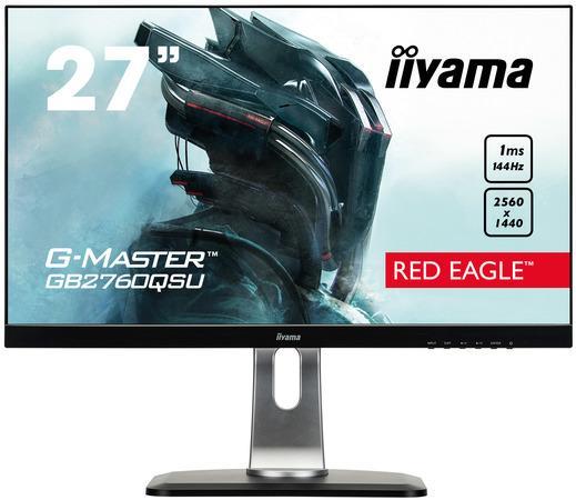 Monitor Iiyama G-Master Red Eagle GB2760QSU-B1 27inch, WQHD, DVI/HDMI/DP,144Hz, GB2760QSU-B1