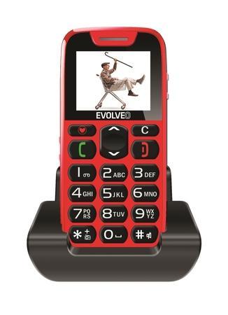 Mobilní telefon Evolveo EasyPhone EP-500 - červený