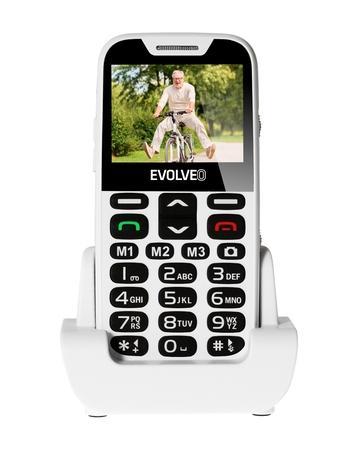 Mobilní telefon Evolveo EVOLVEO EasyPhone XD pro seniory - bílý