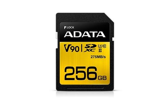 ADATA SDXC karta 256GB UHS-II U3 Class 10, Premier One (R: 290MB / W: 260MB)