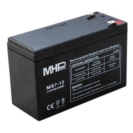 Pb akumulátor MHPower VRLA AGM 12V/7Ah (MS7-12), MS7-12