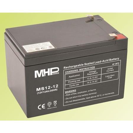 Pb akumulátor MHPower VRLA AGM 12V/12Ah (MS12-12), MS12-12