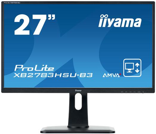 Iiyama LCD XB2783HSU 27`` LED,AMVA+,4ms,VGA/DVI/HDMI,repro,1920x1080,HAS,pivot,č, XB2783HSU-B3