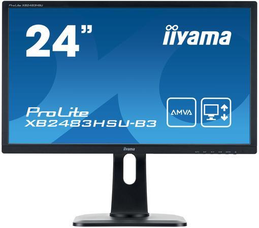 Iiyama LCD XB2483HSU 23,8``LED,AMVA,4ms,VGA/DVI/HDMI,repro,1920x1080,HAS,pivot,č, XB2483HSU-B3