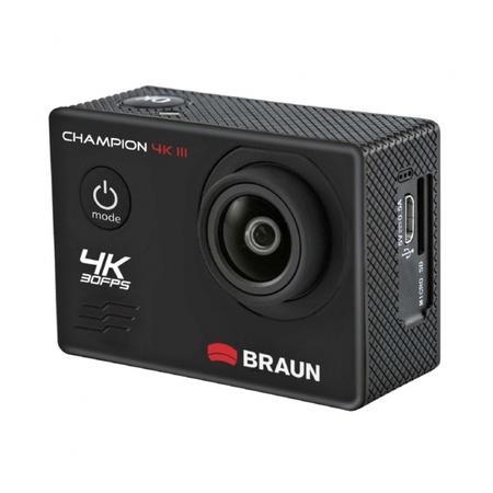Braun outdoorová videokamera Champion 4K III, WiFi, vodotěsné pouzdro
