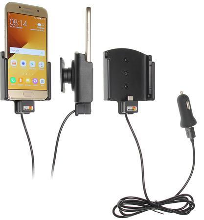 Brodit držák do auta nastavitelný s USB-C a nabíjením z cig. zapalovače/USB š.62-77 mm, tl. 6-10