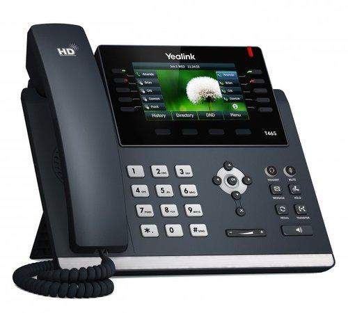 "Yealink SIP-T46S IP tel., PoE, 4,3"" bar. LCD, 27 prog.tl., GigE, 320A127"