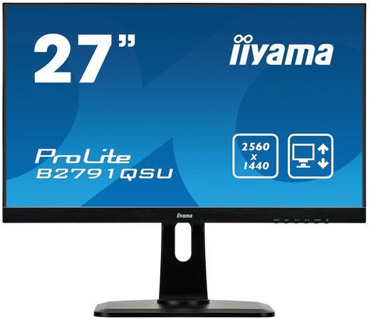 Monitor Iiyama B2791QSU-B1 27inch WQHD, D-Sub/DVI/HDMI/DP, USBx2, speakers, B2791QSU-B1
